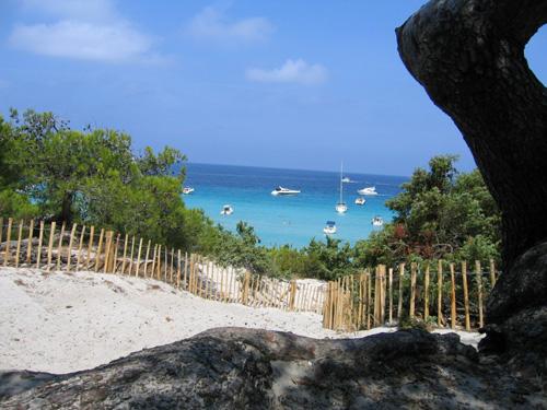Eau chaude, calme sur les magnifiques plages corses