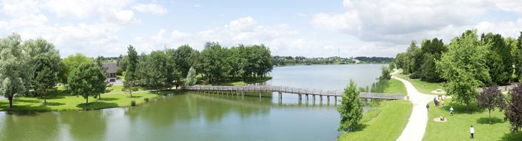 Détente autour du lac des Bretonnières